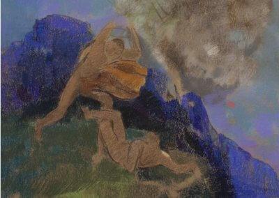 Odilon Redon – CAIN ET ABEL