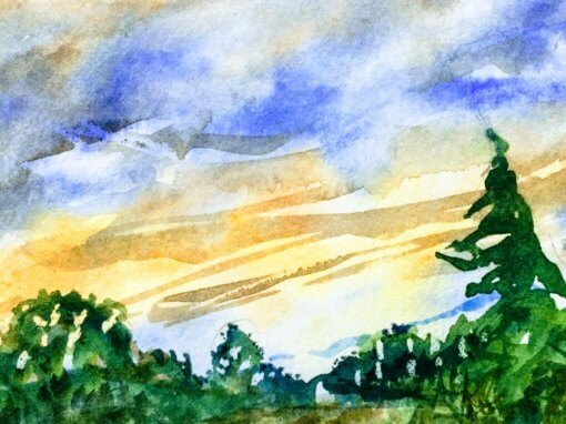 Approaches to Landscape in Watercolor – Mondays, 10 am