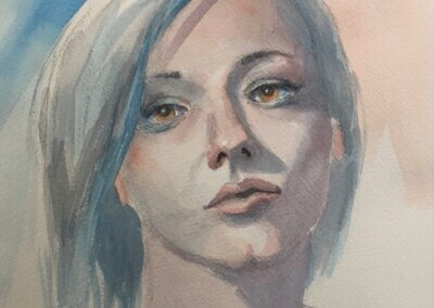 Portrait Sketch (Pencil and Watercolor) – Fridays, 1:30pm