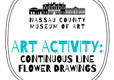Art Activity: Continuous Line Flower Drawings