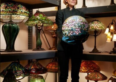 The Ladies Behind Tiffany's Lamps: A Virtual Talk with Lindsy Parrott, Director and Curator of The Neustadt Collection of Tiffany Glass,  June 6 and Oct. 3,  3 pm