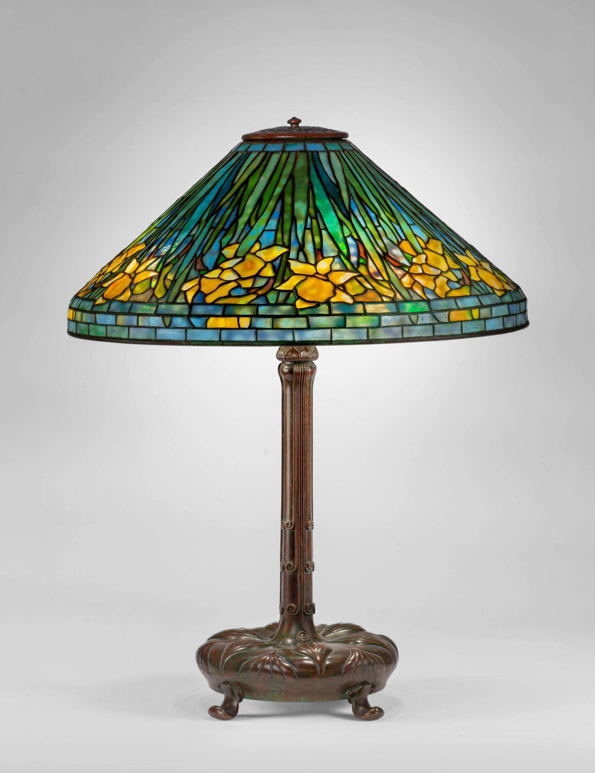 Spotlight on a Tiffany Lamp